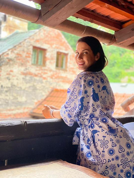 Eva Decastelo si výlety po Česku užívá.