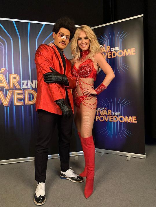 Zuzana Belohorcová a Martin Klinčúch jako The Weeknd.