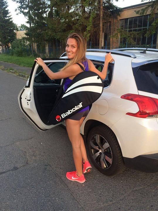 Na tréninky jezdila většinou z Prahy do Náchoda.