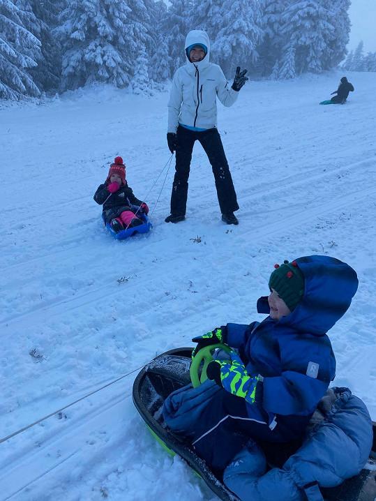 Začátek roku vítali s rodinou na horách.