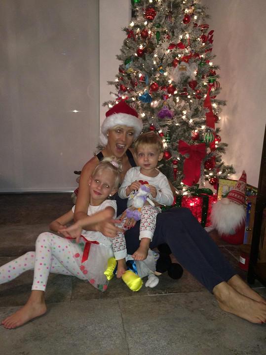 Rodina slavila Vánoce doma na Miami.
