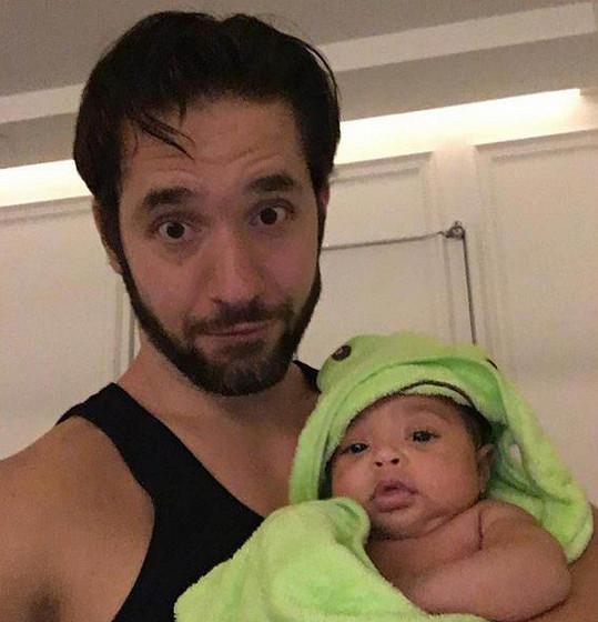 Internetový podnikatel Alexis Ohanian s dcerkou Alexis Olympií