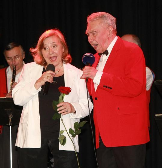 Zorka Kohoutová často zpívala s Pepou Zímou.
