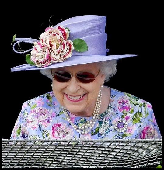 Alžbětě II. není do smíchu.