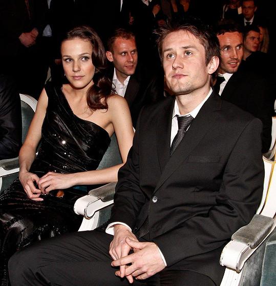 Tomáš Rosický s manželkou Radkou Rosickou