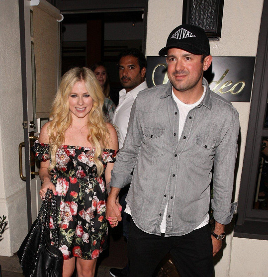 Avril Lavigne s přítelem Phillipem Sarofimem