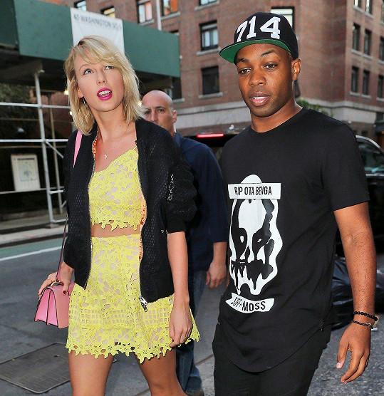 Taylor Swift s kamarádem Todrickem Hallem