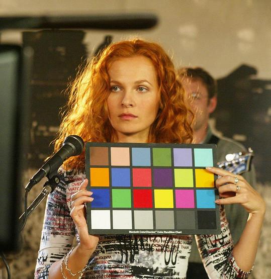 Zrzavé vlasy měla Michaela Badinková ve filmu Jak básníci neztrácejí naději.