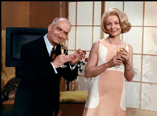 Louis de Funès coby strážmistr Ludovic Cruchot a Claude Gensac jako jeho manželka Josefa si společně zahráli v četnických komediích a řadě dalších filmů.