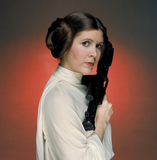 Carrie Fisher jako princezna Leia ve Star Wars