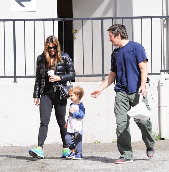 Christian Bale s manželkou a synem Josephem