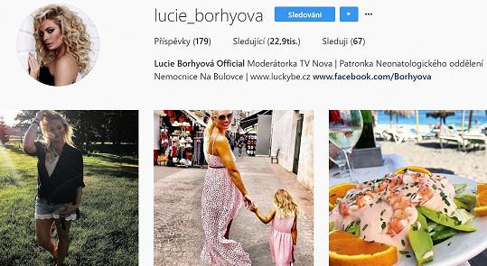 Lucie Borhyová na Instagramu