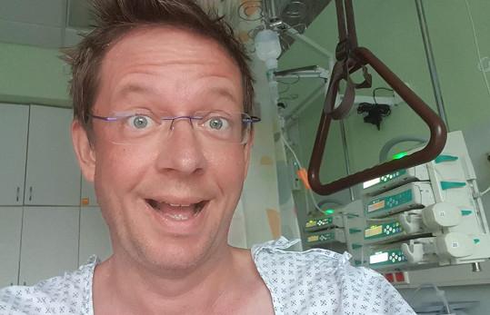 Aleš Cibulka se zotavuje z operace.