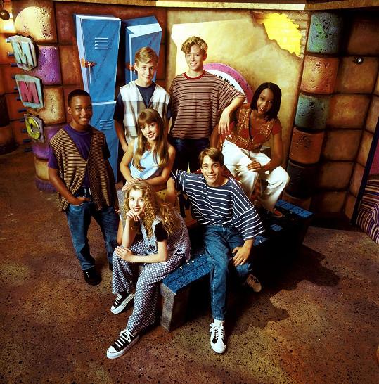 Marque Lynche (vlevo) se slavnějšími kamarády v dětském pořadu Mickey Mouse Club