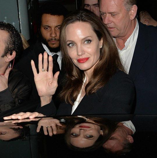 Angelina Jolie vypadala skvěle.