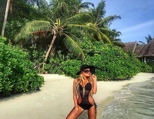 Bloggerka si užívala na maledivském ostrově Baros.