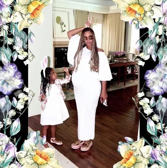 Těhotná Beyoncé s dcerou Blue Ivy