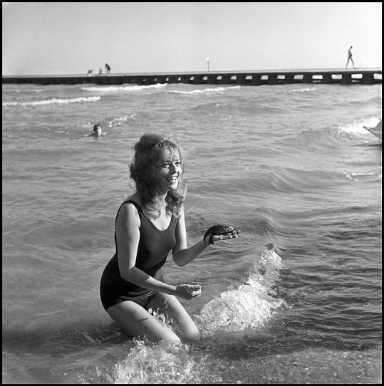 Herečka na festivalu v Cannes v roce 1961