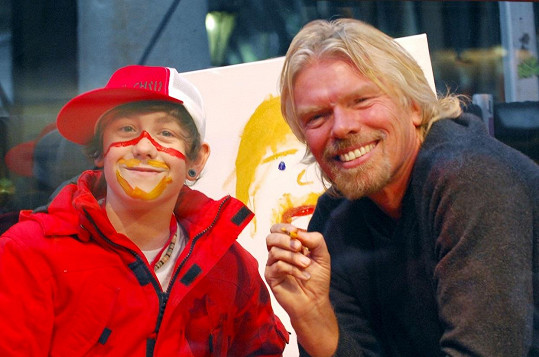 S Richardem Bransonem v roce 2007