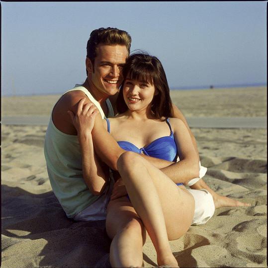 Shannen s Lukem jako Brenda Walsh a Dylan McKay