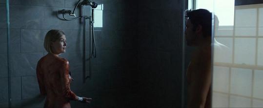 Zakrvácená Rosamund Pike z filmu Zmizelá. To je podle Roberta jeho sestra Kim.