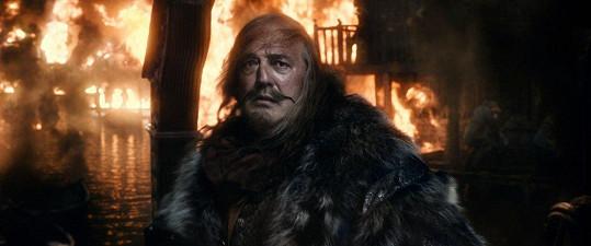 Stephen Fry jako podlý a chamtivý starosta Jezerního města z filmu Hobit.