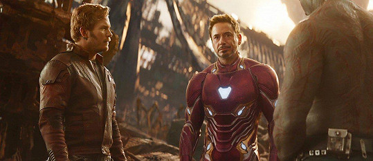 Ve filmu Avengers: Infinity War se sešli jako Star-Lord a Iron Man.