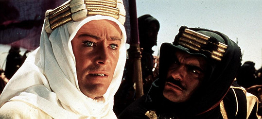 Peter O'Toole ve snímku Lawrence z Arábie