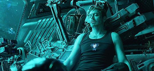Robert Downey Jr. jako Iron Man ve filmu Avengers: Endgame