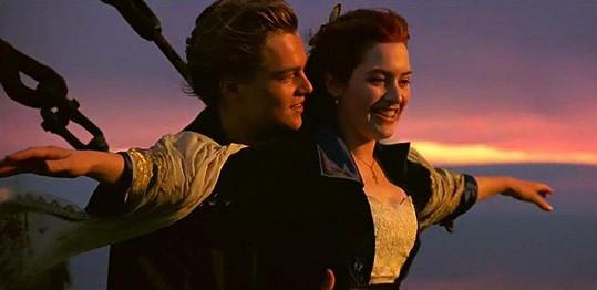 DiCaprio a Winslet jako Jack a Rose v Titaniku