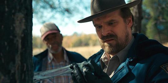 David Harbour exceloval jako Jim Hopper v seriálu Stranger Things...