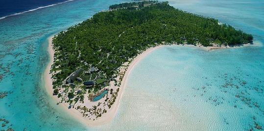 Kim Kardashian vzala blízké na ostrov Tetiaroa ve Francouzské Polynésii.