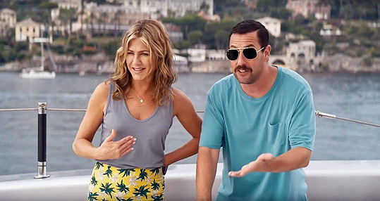 Jennifer Aniston a Adam Sandler ve filmu Murder Mystery