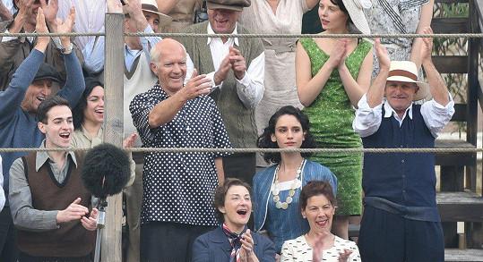 Antonio Banderas při natáčení seriálu Genius: Picasso