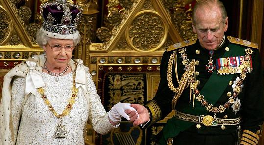 Královna Alžběta II. s manželem, princem Phillipem