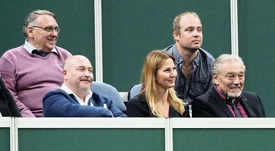 Zápas si užíval i Michal David.