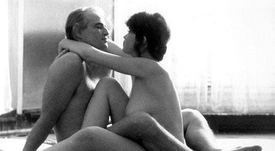 Marlon Brando a Maria Schneider ve filmu Poslední tango v Paříži (1972)
