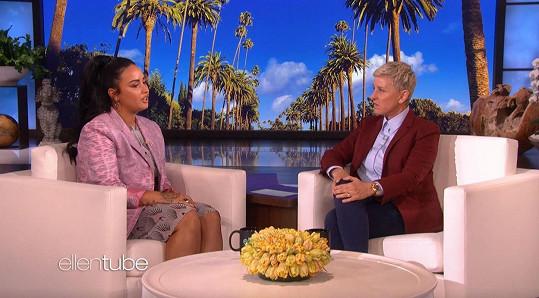 Rozpovídala se v pořadu Ellen DeGeneres.