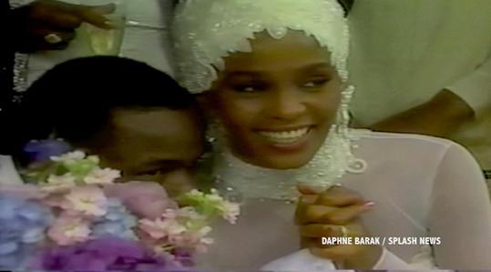Whitney v den své svatby.