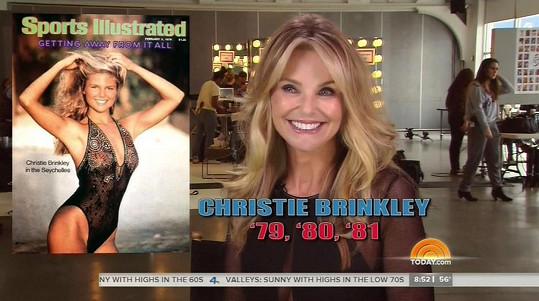 Christie Brinkley byla třikrát na titulní straně plavkového speciálu Sports Illustrated.