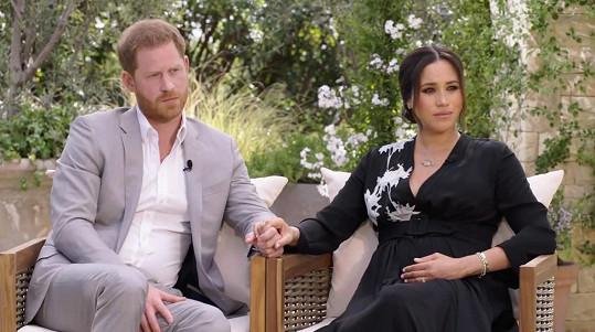 Princ Harry s manželkou Meghan během interview s Oprah Winfrey
