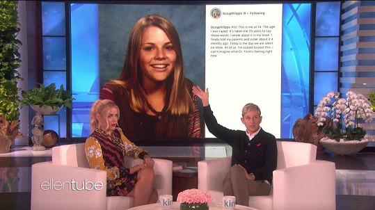 O znásilnění promluvila i v pořadu Ellen DeGeneres.