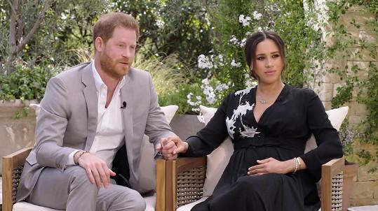 Princ Harry a vévodkyně Meghan při rozhovoru s Oprah Winfrey