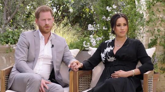 Harry a Meghan při rozhovoru s Oprah Winfrey