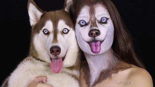 Iluze Illana vytváří použitím make-upu.