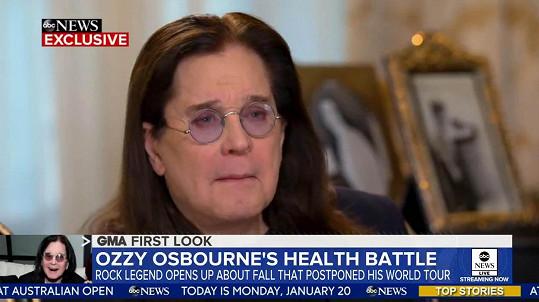 Ozzy Osbourne promluvil o svém zdravotním stavu v úterní ranní show Good Morning America.
