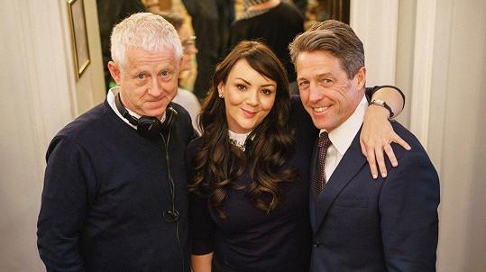 Martine McCutcheon s Grantem a scénáristou Richardem Curtisem při setkání po letech.