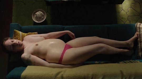 Lena Dunham v seriálu Girls otěhotněla.