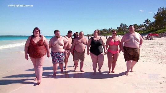 Skupinka obézních lidí se objevila v reality show.