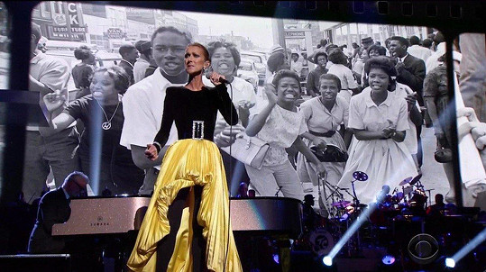 Na koncertě vystoupila Céline Dion.